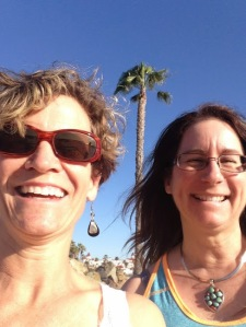 Mary Jo Mueller and I at Coronado Beach.