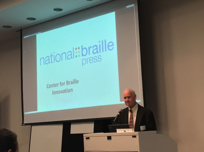Brian MacDonald, President, National Braille Press delivers keynote address to the Boston Accessibility Conference.